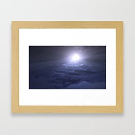 Moonbeam Sea Framed Art Print
