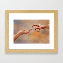 Touch me Framed Art Print