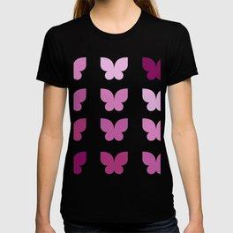 Butterflies in Purple Ombre T-shirt