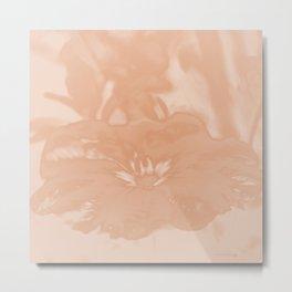 Bloom in Peach Tone Metal Print