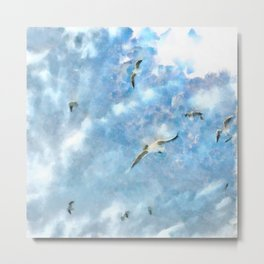 The Chasers - Seagulls In Flight Metal Print