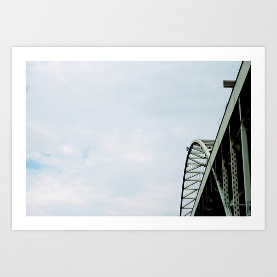 Bridge meet Sky Art Print