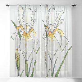 Iridescent Iris Sheer Curtain