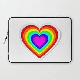 Lbgt rainbow heart Laptop Sleeve