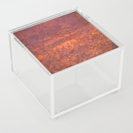 Percolated Sunset in Warm Tones Acrylic Box