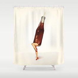 Soda Girl Shower Curtain