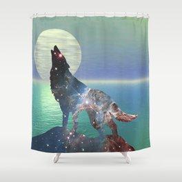 Star Wolf Shower Curtain