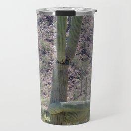 Giant Cactus in Saguaro National Park Travel Mug