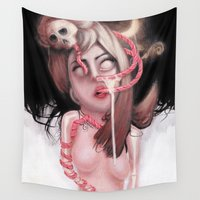 lolita Wall Tapestries featuring 苦悩 by Rouble Rust