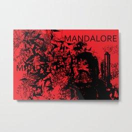 Boba Fett Red Metal Print
