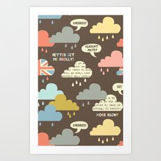 Rainy London Art Print