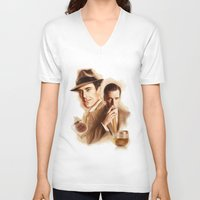 mad men V-neck T-shirts featuring MAD MEN DON DRAPER by TOXIC RETRO
