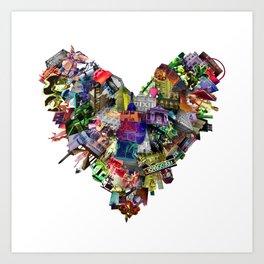 Photamerica: LA heart Art Print