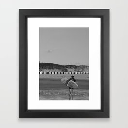 lone surfer  Framed Art Print