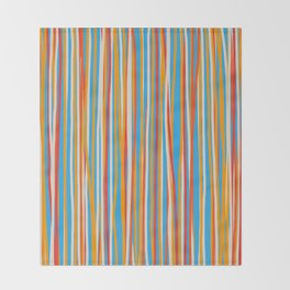 Colored Lines #7 Throw Blanket