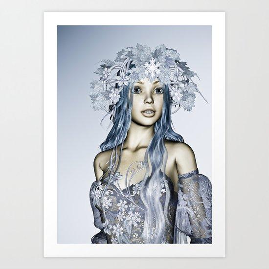 Snow Maiden Art Print