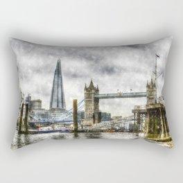 The River Thames Art Rectangular Pillow