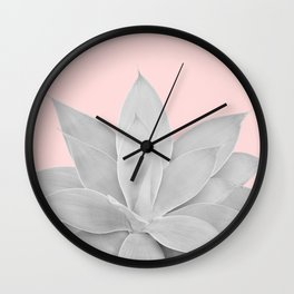 Blush Agave #1 #tropical #decor #art #society6 Wall Clock