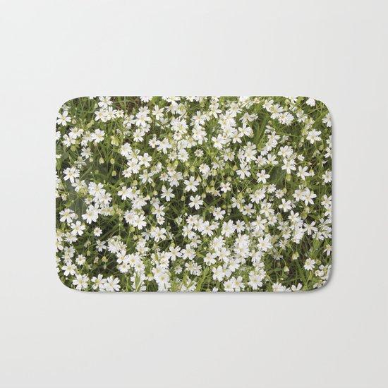 Stitchwort Stellaria Wild Flowers Bath Mat