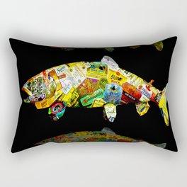FATHER  LIKES FISH AND BOURBON POP ART Rectangular Pillow
