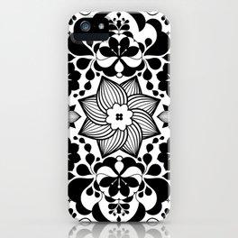 Folk flowers iPhone Case