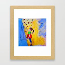 Happy New Year Everyone! Framed Art Print