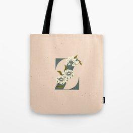 Z for Zinnia Tote Bag