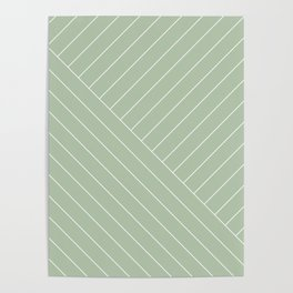 Abstract geometric lines mint Poster
