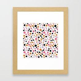 Colorful Dot Pattern Framed Art Print
