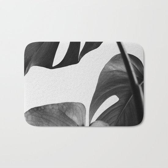 Black & white Monstera Bath Mat