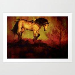HORSE - Choctaw ridge Art Print