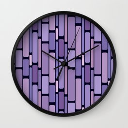 Retro Blocks Lavender Wall Clock