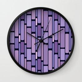 Retro Blocks Lavender Wall Clock