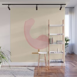 Pink Egg Chair designed by Arne Jacobsen Wall Mural