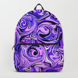Violet and Lilac Paint Swirls Backpack
