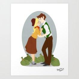 Crime Duo Art Print
