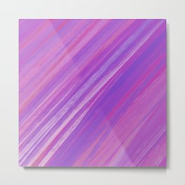 Acrylic brush strokes background - purple and pink Metal Print