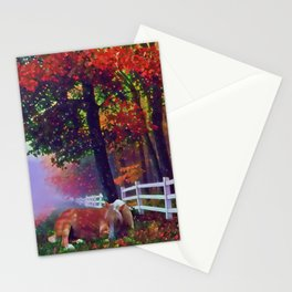 Autumn Nap Stationery Cards