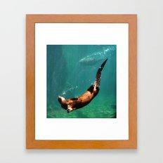 Everybody Otter Have Shiny Bubbles Framed Art Print
