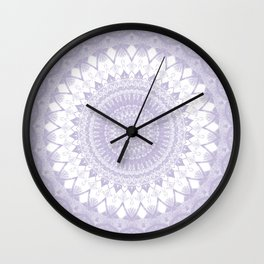 Boho Pastel Purple Mandala Wall Clock