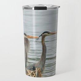 Blue Heron Pair Travel Mug
