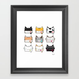 Convo Cats! Framed Art Print