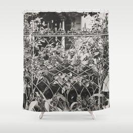 New Orleans Garden District Fence Shower Curtain