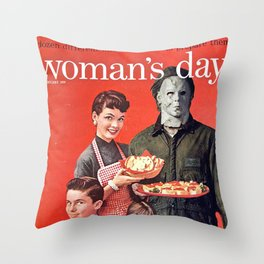 Michael Myers as Good Father Throw Pillow