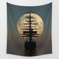 ship Wall Tapestries featuring Ship by samedia
