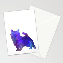 Norwich Terrier in watercolor Stationery Cards