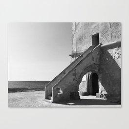 Taranto, Sicily   Saltworks tower building Canvas Print