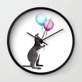 Wallaby With Balloons Wall Clock