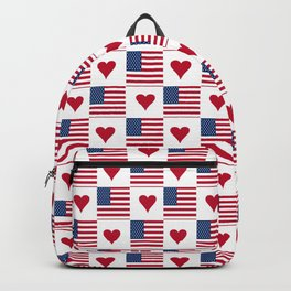 flag of the usa 9 with heart Backpack