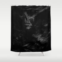the cure Shower Curtains featuring CURE by Atrament Fox